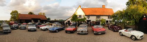 1066 Classic Car Club at the Hawkedon Queen Pub in Suffolk