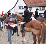 Hunt Meeting at The Queens Head, Hawkedon, Suffolk