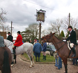 Hunt Meet at The Hawkedon Queen, Bury St Edmunds, Suffolk