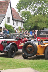 Vintage Cars at The Queens Head, Hawkedon, Suffolk