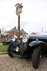 Vintage Cars at The Queens Head, Hawkedon near Bury St Edmunds, Suffolk